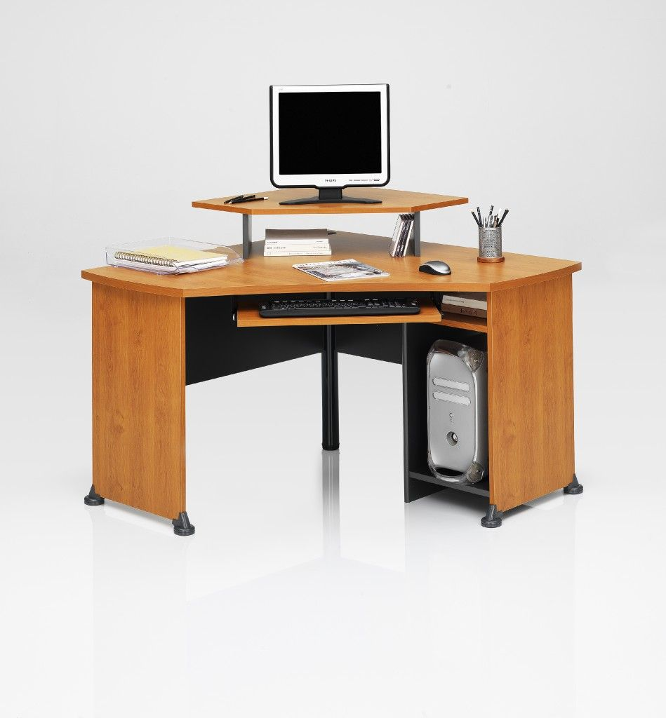 corner desk monitor stand.