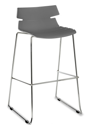 Foxton Designer High Stool Grey Seat