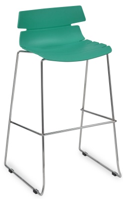 Foxton Designer High Stool With A Turuquoise Seat