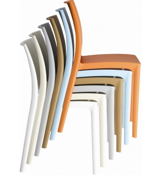 Thermoplastic chairs juno online reality - Chaise blanche design ...