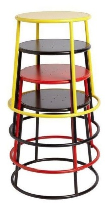 Maxine Low Stools Stacked