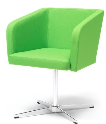 Strat Designer Tub Chair Green Fabric
