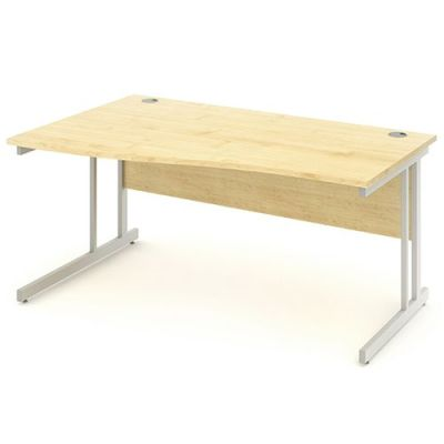 Revolution Left Hand Wave Desk With Maple Top