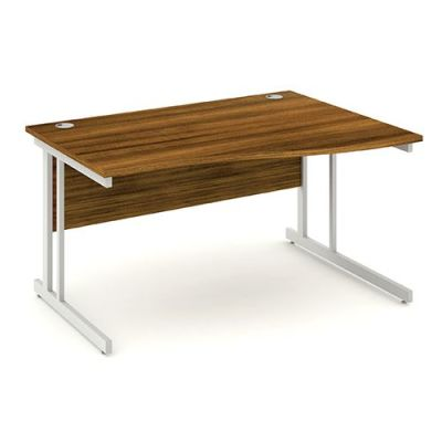Revolution Right Hand Wave Desk With Walnut Top