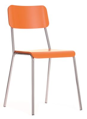 Kooler Bisttro Chair With An Orange Seat And Back