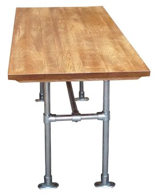 Scaffold Dining Table Side View Indoor Top