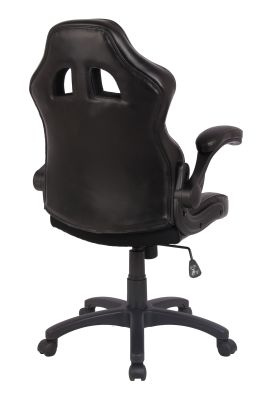 F1 Racer Exec Chair Black Rear Angle View