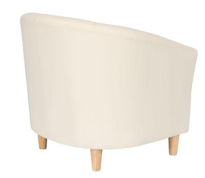 Tritium Tub Chair In Cream Rear Angle