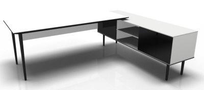 Longo Black And Glass-White- Glass-Dark With Modesty Panel