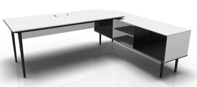 Longo Black And White- Glass-Dark With Modesty Panel