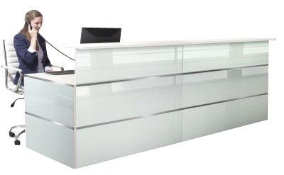 Atlanta Straight Glass Reception Desk 8