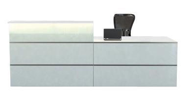 Atlanta Straight Glass Reception Desk 9