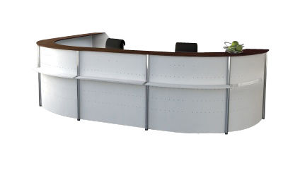 Genua Plus Horshoe Reception Desk V9