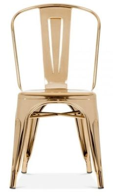 Xavier Pauchard Chair In Gold Finish Front View