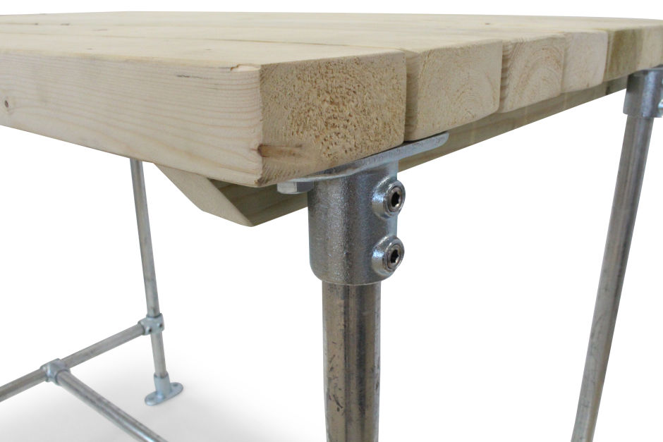 Outdoor Scaffold Bar Height Table 800mm Square Table