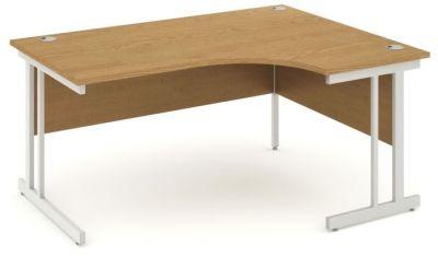 Revolution Right Hand Corner Desk In Oak