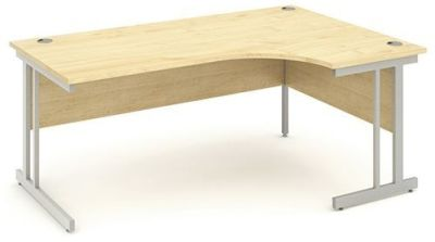 Revolution Right Hand Corner Desk With A Maple Topm