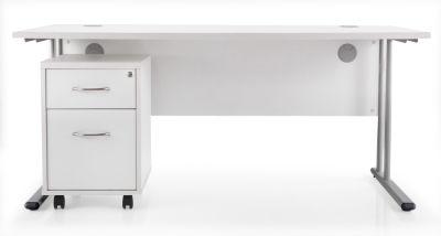 Flite 1600mm Desk And Two Drawer Pedestal Bundle