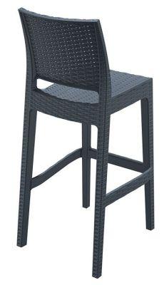 Kona Outdoor Weave Effect High Stool Rear Angle