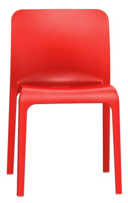 POp Chair In Red Front View