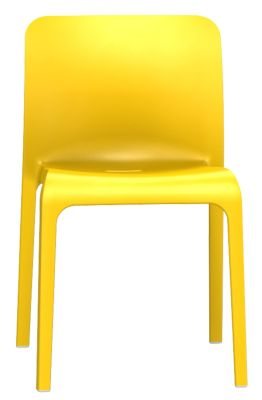 Ppp Chair In Sulphur Yellow Front View