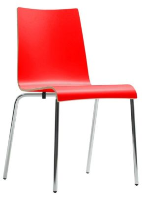 Star Designer Laminate Chair In Red