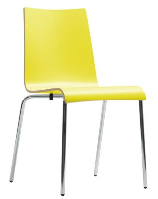 Star Designer Laminate Chair In Yellow