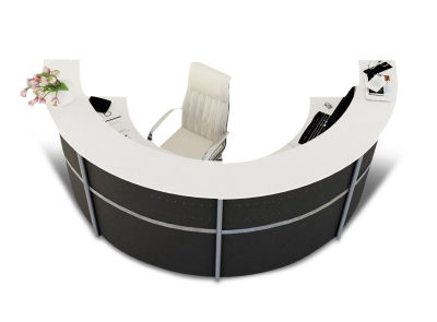 Genua Plus Half Moon Reception Desk V8