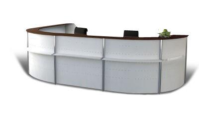 Genua Plus Horshoe Reception Desk V9