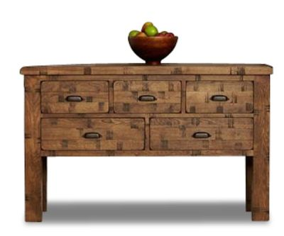 Hatfield Rough Sawn Oak Console Table