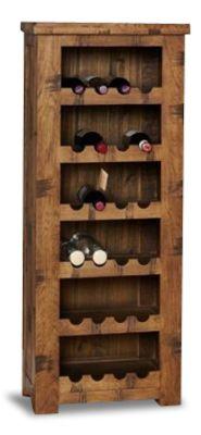 Hatfield Rough Sawn Oak Wine Rack