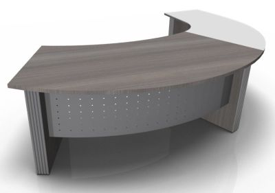 Direction Style Curved Desk And Glass Curved Return CD+G
