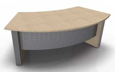 Direction Style Executive Curved Desk