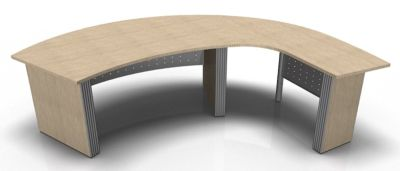 Direction Style Curved Desk And Curved Return Desk RH WO Rear View