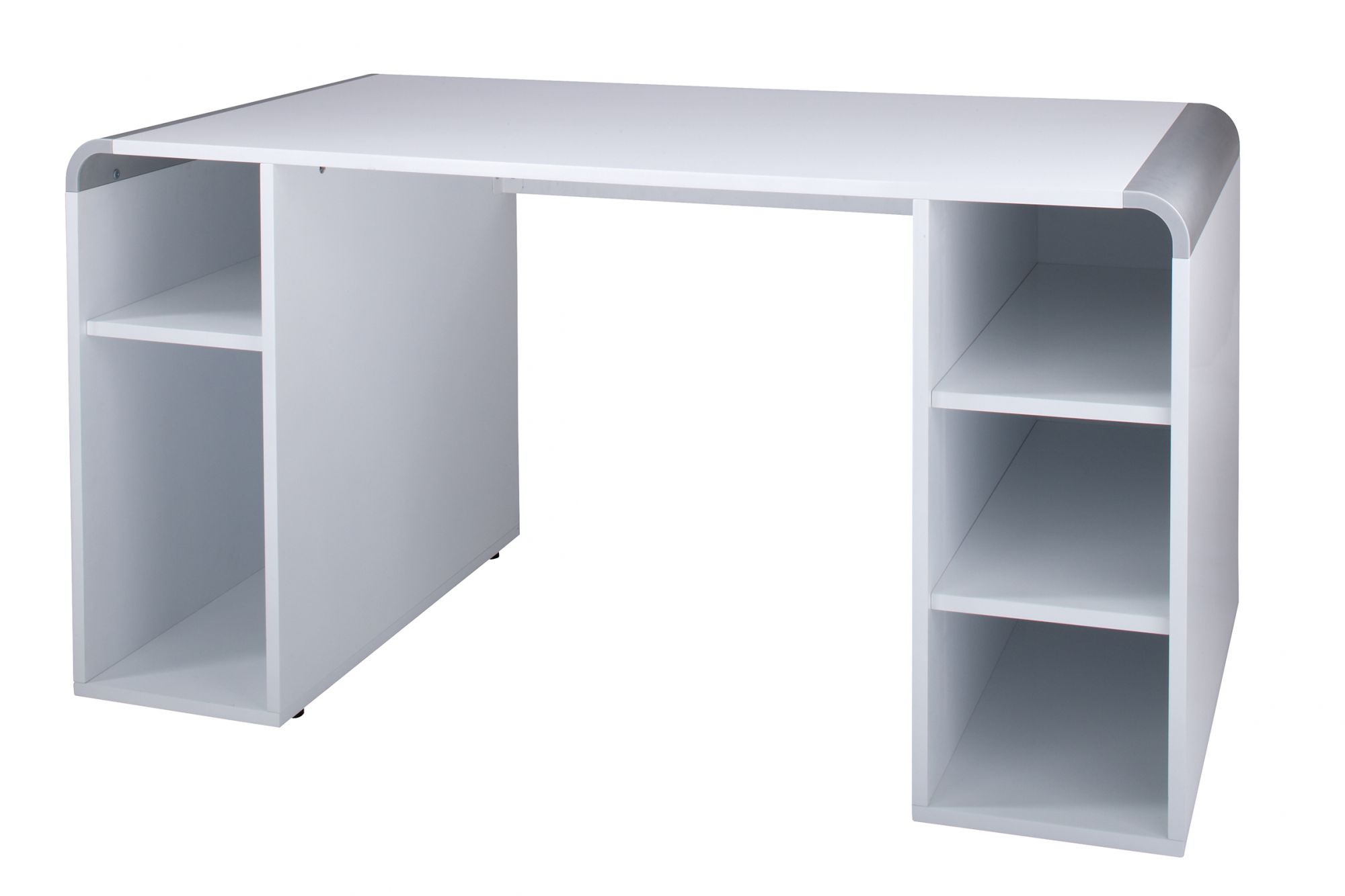 Snowflake High Gloss White Console Desk - Online Reality