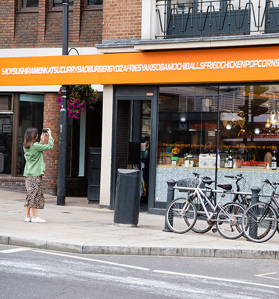 Pablo creates worlds longest restaurant sign for YO! Sushi
