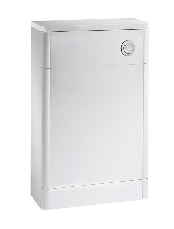500mm slimline wc back to wall unit white r2 bathrooms