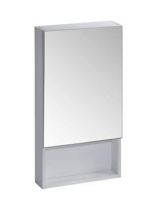 400mm Single Mirror Door Cabinet - White
