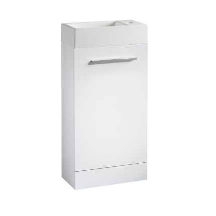 Drive 400 Freestanding Unit & Basin - White