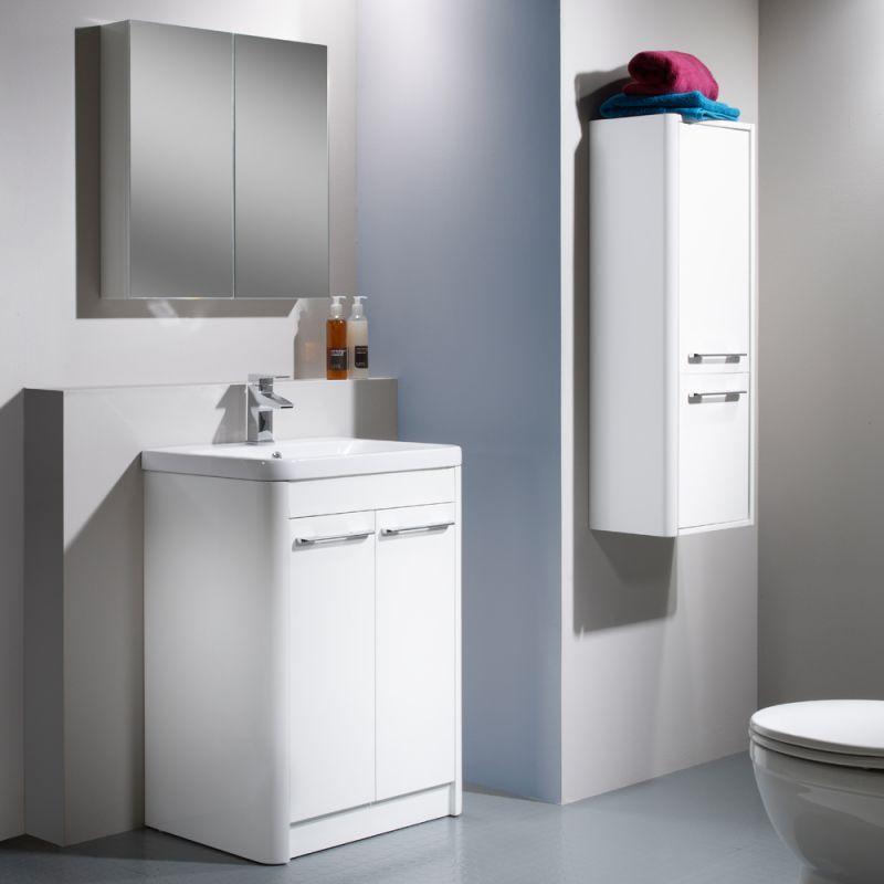 Contour 600 Freestanding Unit White R2 Bathrooms