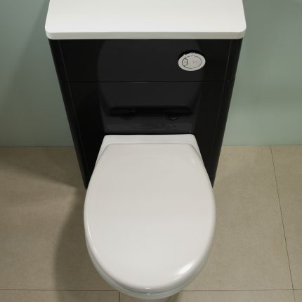 500mm Slimline Back To Wall WC Unit - Anthracite