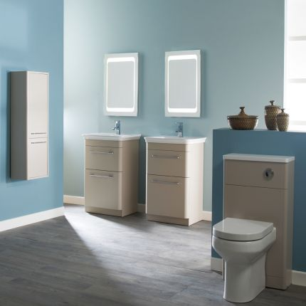 500mm Slim Depth WC Back To Wall Unit - Nutmeg