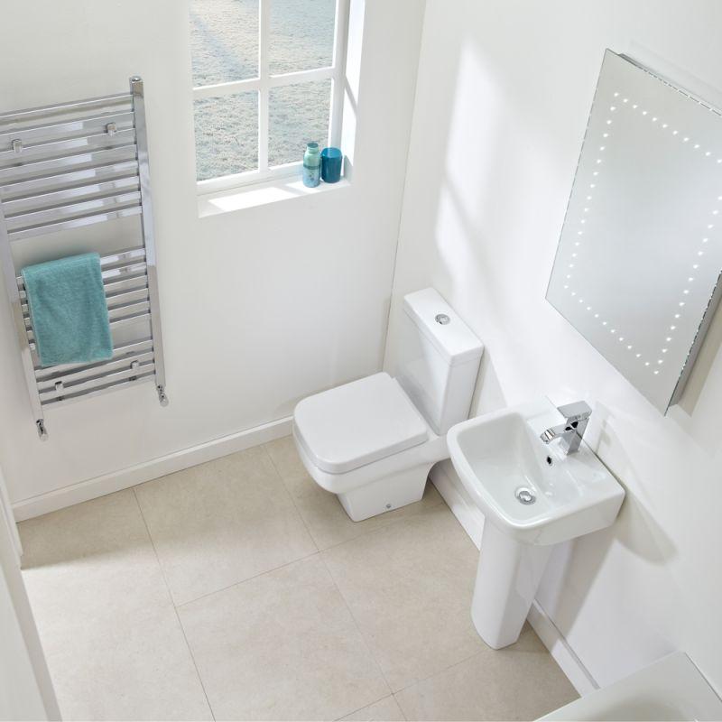 Mini Wc mini 500mm basin pedestal r2 bathrooms