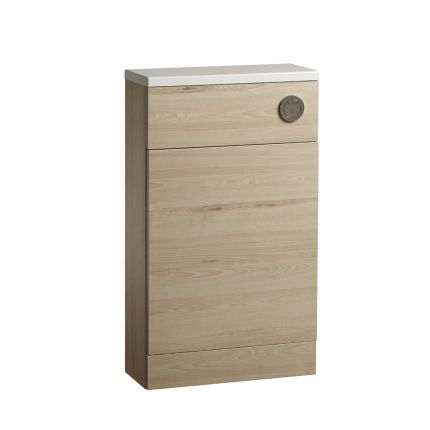 500mm Slimline Back To Wall WC Unit - Larch