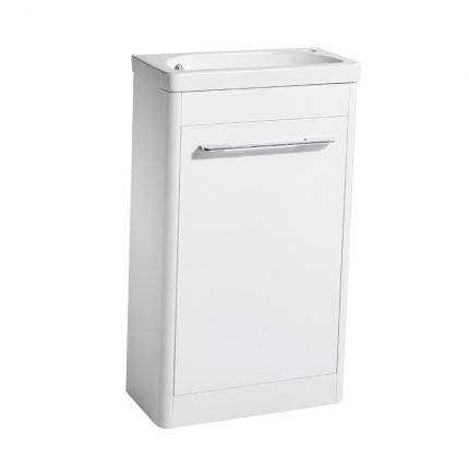 Contour 500 Cloakroom Unit - White