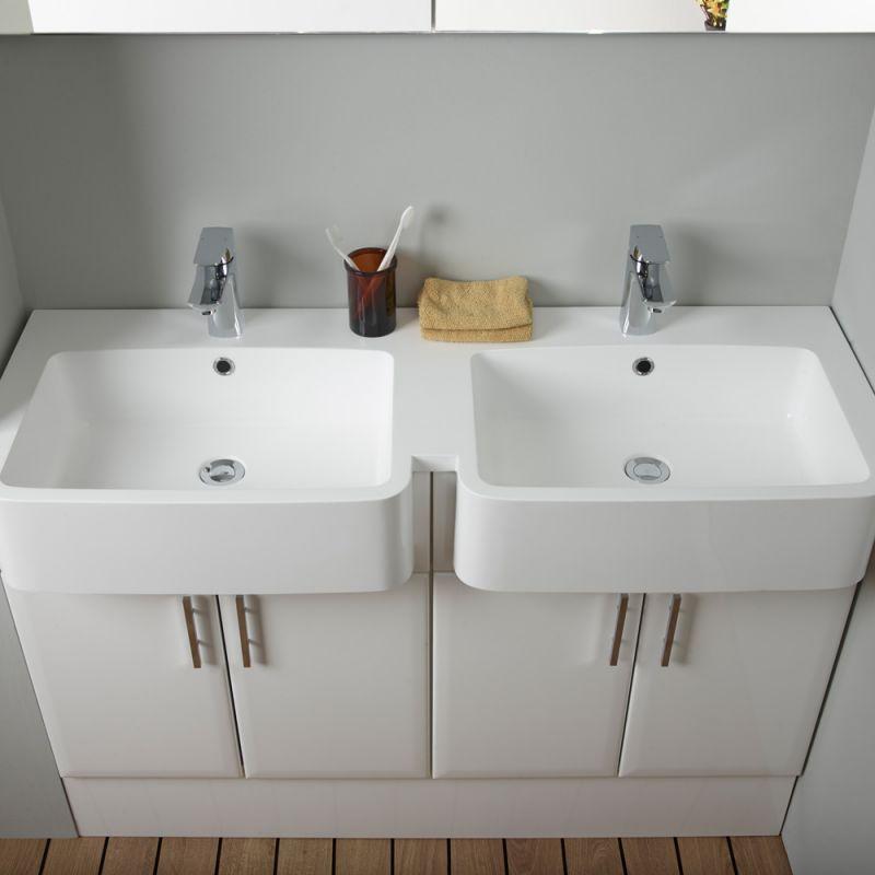 1200mm isocast basin double r2 bathrooms