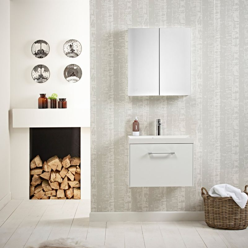 Agile 600 Wall Mounted Unit Gloss White R2 Bathrooms