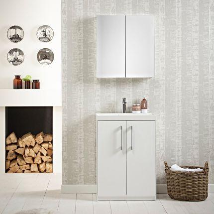 Agile 600 Freestanding Unit - Gloss White