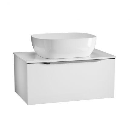Figure 700mm Wall Mounted Wash Unit - Gloss White