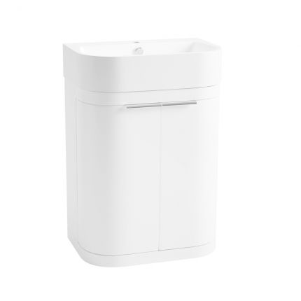 Soul 600mm Freestanding Wash Unit - Gloss White